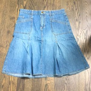 Faded glory Jean skirt size 8